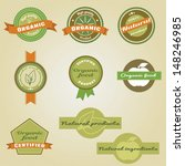 organic and natural labels...   Shutterstock .eps vector #148246985