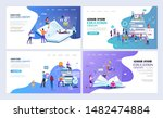 set of templates web page... | Shutterstock .eps vector #1482474884