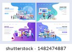 set of templates web page... | Shutterstock .eps vector #1482474887