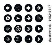 16 arrow sign icon set 01.... | Shutterstock .eps vector #148249847