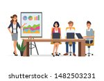 business people seminar with... | Shutterstock .eps vector #1482503231