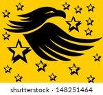 tattoo tribal eagle vector art | Shutterstock .eps vector #148251464