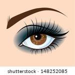 smoky eye. brown eye make up....