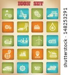 industry vintage icons vector | Shutterstock .eps vector #148253291