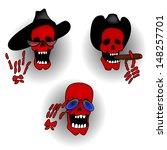 halloween skeleton | Shutterstock .eps vector #148257701