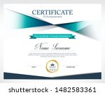 certificate of appreciation... | Shutterstock .eps vector #1482583361