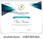 certificate of appreciation... | Shutterstock .eps vector #1482583364