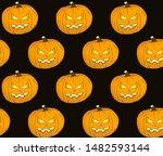 halloween vintage seamless... | Shutterstock .eps vector #1482593144