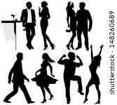 several people are dancing on... | Shutterstock .eps vector #148260689