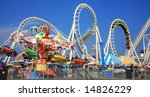 amusement park rides | Shutterstock . vector #14826229