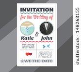 invitation for the wedding   Shutterstock .eps vector #148263155