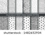 set of seamless trendy abstract ... | Shutterstock .eps vector #1482652934