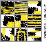 sett of differentt black and... | Shutterstock .eps vector #1482656324