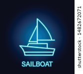 sailboat ship sea transport...