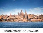 Valletta Skyline With The St....