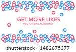 facebook likes. many likes....   Shutterstock .eps vector #1482675377