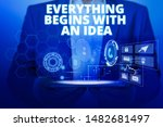 text sign showing everything... | Shutterstock . vector #1482681497