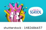 back to school card... | Shutterstock .eps vector #1482686657