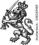 heraldic lion | Shutterstock .eps vector #148269485