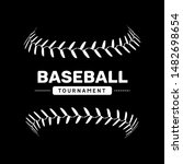 baseball lace ball illustration ... | Shutterstock .eps vector #1482698654