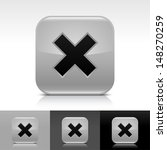 delete icon set. gray color...
