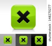 delete icon set. green color...