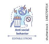 anti social behavior concept... | Shutterstock .eps vector #1482709514