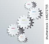 vector cogwheels progress... | Shutterstock .eps vector #148272755
