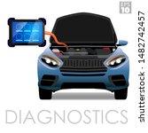 obdii scanner or dealership... | Shutterstock .eps vector #1482742457