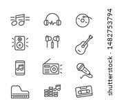 set of music related vector...   Shutterstock .eps vector #1482753794