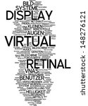 word cloud   virtual retinal... | Shutterstock . vector #148276121