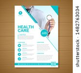 corporate healthcare cover a4... | Shutterstock .eps vector #1482763034