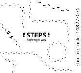 vector human steps    Shutterstock .eps vector #148277075