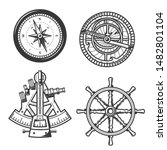 ship helm  sail compass and... | Shutterstock .eps vector #1482801104
