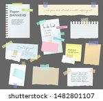 paper notes on stickers ... | Shutterstock .eps vector #1482801107