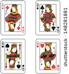 four queens  | Shutterstock .eps vector #148281881