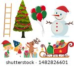 set of christmas elements on... | Shutterstock .eps vector #1482826601