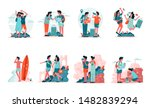 travelling couple and... | Shutterstock .eps vector #1482839294