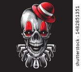 scary skull clown vector art | Shutterstock .eps vector #1482851351