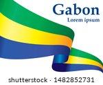 flag of gabon  gabonese... | Shutterstock .eps vector #1482852731