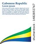 flag of gabon  gabonese... | Shutterstock .eps vector #1482852767
