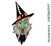 vintage scary halloween... | Shutterstock .eps vector #1482860597