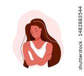 love yourself vector... | Shutterstock .eps vector #1482883544