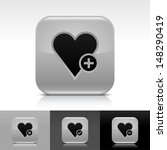 heart icon set. gray color...