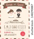 wedding invitation card... | Shutterstock .eps vector #148290887