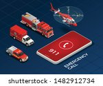 emergency call and transport... | Shutterstock .eps vector #1482912734