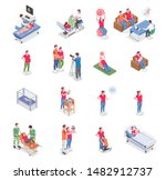 pregnancy and birth isometric... | Shutterstock .eps vector #1482912737