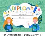 certificates kindergarten and... | Shutterstock . vector #1482927947