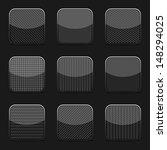 collection of nine black... | Shutterstock .eps vector #148294025