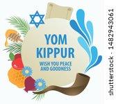 vector illustration of yom... | Shutterstock .eps vector #1482943061